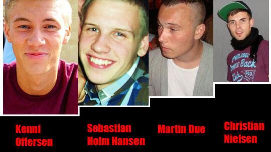De fire drenge blev lørdag bisat fra Roskilde Domkirke.