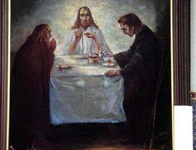 Her ses Emil Noldes 'Middag i Emmaus', der er malet i 1904. Maleriet, der skønnes at have en værdi på et tocifret millionbeløb, er stjålet fra Ølstrup kirke ved Ringkøbing.