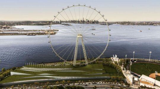 Sådan vil det store pariserhjul komme til at se ud.