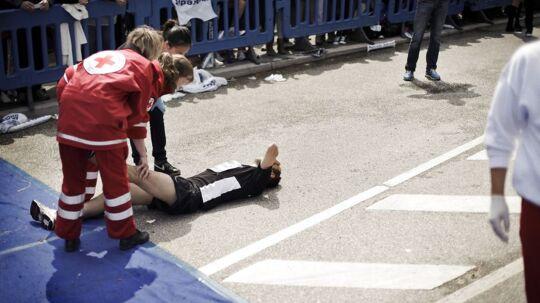 Nykredit Copenhagen Marathon med omkring 12000 løbere startede og sluttede på Islands Brygge.De mange løbere var hårdt medtagede, da de kom i mål efter 42 km.
