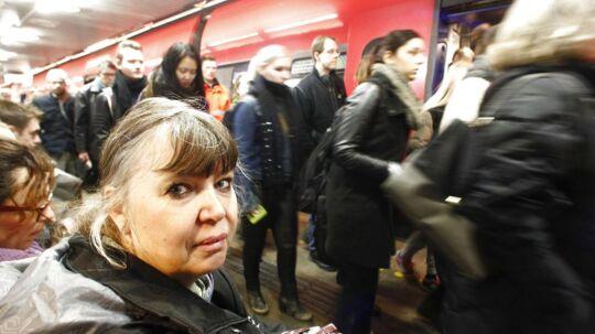 Susanne Bergman er en af de mange s-togpassagerer som denne uge har været hårdt ramt af forsinkelser.