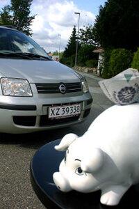 Der er 15.000 kr. til sparegrisen, efter at f.eks. Fiat Panda Ciao er sat ned fra 120.000 kr. til 105.000 kr.Foto: Scanpix