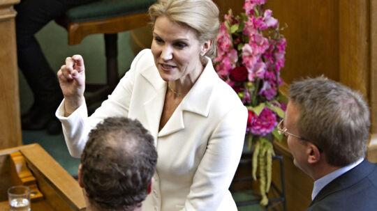 Helle Thorning-Schmidt ved folketingets åbning.