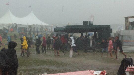 Sådan så der ud på Langelandsfestivallen tidligere lørdag.