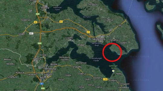 De tyske turister var på skattejagt i farvandet ud for Kegnæs på Sydals.