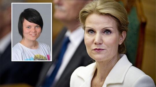 Henirette Fousing (lille billede) havde håbet på et lidt andet svar, da hun tirsdag aften deltog i debat med statsministeren på TV2.