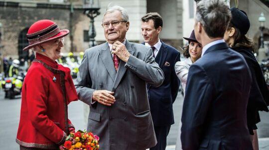 Christiansborg Folketingets åbning tirsdag den 6. oktober 2015. Her ses Dronning Margrethe, Prins Henrik, Prins Joachim og Kronprins Frederik.