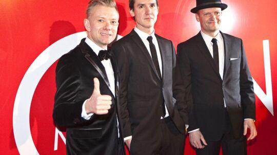 'KLOVN THE MOVIE' fortsætter sejrsrækken med canadisk hædder. På billedet Casper Christensen (tv), Instruktør Mikkel Nørgaard og Frank Hvam.