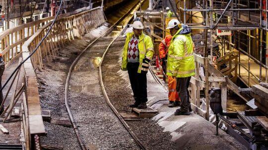 Det italienske metroselskab CIPA blev tirsdag idømt en historisk bod for lønsnyd. Italienerne har endu ikke forhold sig til dommen. ARKIVFOTO: Metrobyggeriet. Bygning af Cityringen.