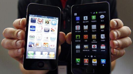 Apple mener, at Samsung har kopieret deres design.