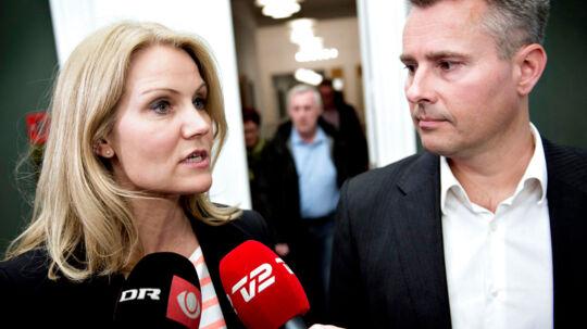 Helle Thorning-Schmidt og Henrik Sass Larsen.