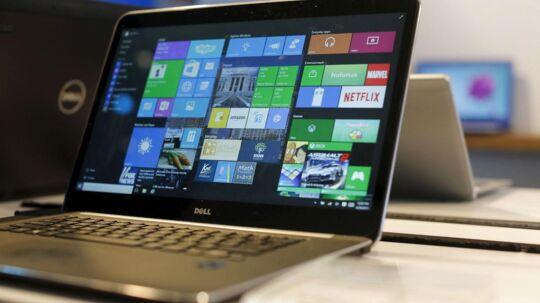 Windows 10 får startmenuen tilbage og kan kombinere den med de farvede fliser, kendt fra Windows 8.1. Arkivfoto: Robert Galbraith, Reuters/Scanpix