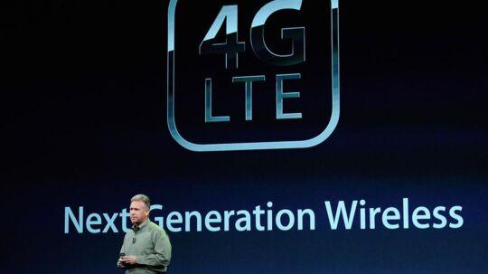 Apple præsenterede onsdag aften den nye iPad med 4G- eller LTE-forbindelse. Men det virker kun i USA, fordi hele Europa anvender andre frekvenser til 4G/LTE. Foto: Kevork Djanzesian, AFP/Scanpix