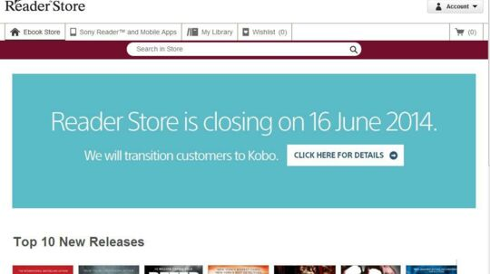 16. juni er det slut med at købe e-bøger direkte hos Sony, som fortsætter produktionen af sin e-bogslæser Reader.