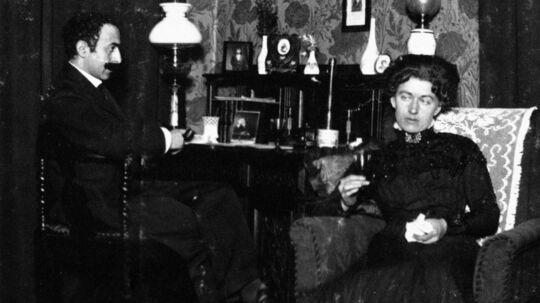 Henri Nathansen og hustruen Johanne i privaten.