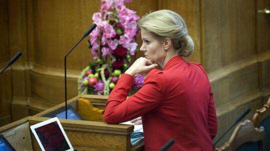 Åbningsdebat i Folketingssalen torsdag d.4.oktober 2012. Her ses statsminister Helle Thorning-Schmidt. (Foto: Keld Navntoft/Scanpix 2012)