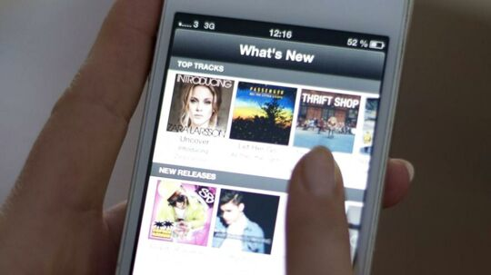 Den svenske netmusiktjeneste Spotify har gennem flere uger reklameret med langt højere brugertal end i virkeligheden. Arkivfoto: Jonathan Nackstrand, AFP/Scanpix