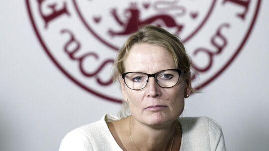 Rigsrevisor Lone Strøm kommer med skarp kritik af den manglende IT-sikkerhed i staten. Arkivfoto: Liselotte Sabroe