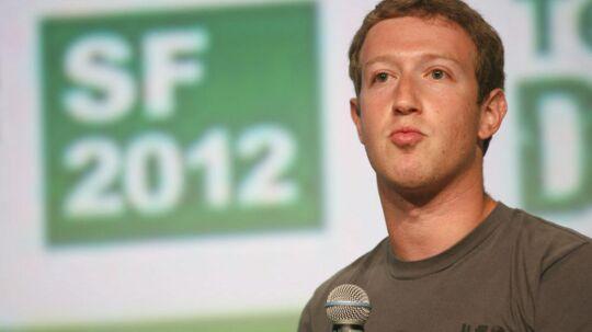 Facebook-stifter og storaktionær Mark Zuckerberg kæmper for at komme ordentligt ind i mobilverdenen. Foto: Kimihiro Hoshino, AFP/Scanpix