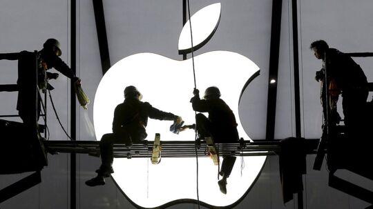 Stigende dollarkurs rammer blandt andre Apple. Arkivfoto.