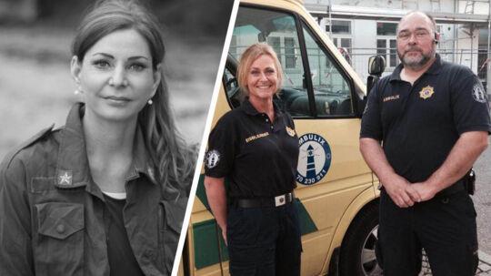 Helle Jensen er i trygge hænder og på vej mod sin livsvigtige operation i Herlev.