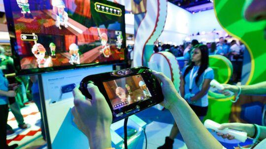 Nintendo vil ikke sætte lanceringsdato eller pris på den nye Wii U, som kommer inden sommerferien. Også Microsoft skærper konkurrencen. Foto: Kevork Djansezian, AFP/Scanpix