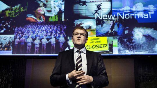 Danske Bankd direktør Eivind Kolding fremlægger bankens nye strategi, men medierne har efter hans mening været alt for optaget af at finde hårene i suppen.