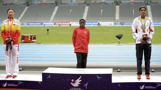 Ruth Jebet troede selv, at hun skulle på podiet for at modtage en guldmedalje.