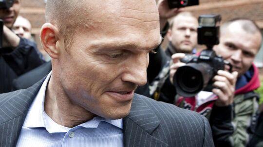 Stein Bagger foran retten i Lyngby, hvor han blev dømt for bedrageri i 2009.