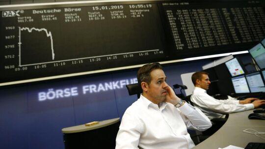 Flere af de store eurpæiske børser mærker efterdønningerne fra den Schweiziske centralbank.