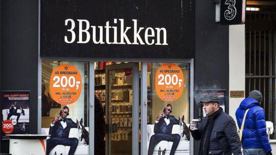 »3« har nu også fjernet det billigste mobilabonnement for at få priserne opad. Arkivfoto: Nils Meilvang, Scanpix