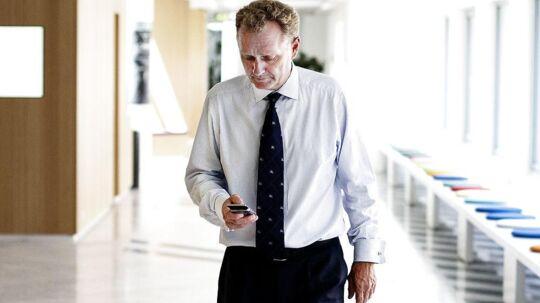 TDCs nye topchef, Carsten Dilling, har netop ændret direktionen og er nu ved at lægge sidste hånd på de kommende tre års strategi. Foto: Niels Ahlmann Olesen, Scanpix