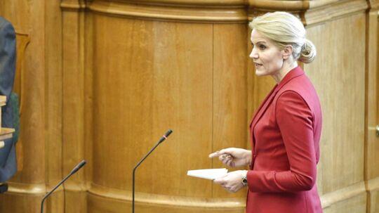 Statsminister Helle Thorning-Schmidt under spørgetimen i folketingssalen.