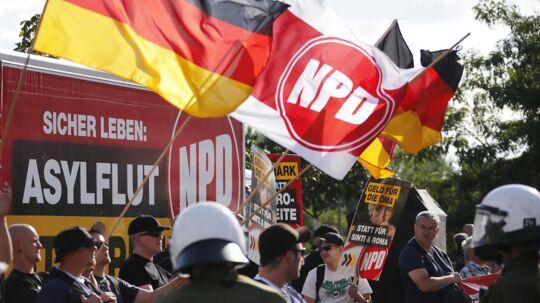Det nynazistiske NPD og dets mange tilhængere er et kontroversielt emne i Tyskland. Arkivfoto: Fabrizio Bensch/Files