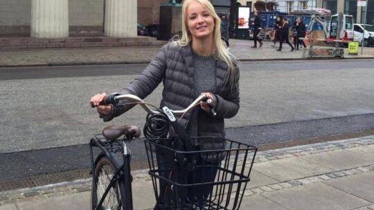 Maria Vaupel Andersen købte ubevidst en hælervarer på trods af, at hun havde tjekket, at cyklen ikke var stjålet via en app fra politiet. Hun fik også kvittering med, da hun købte den gennem Den Blå Avis – den viste sig at være falsk. Foto: privatbillede