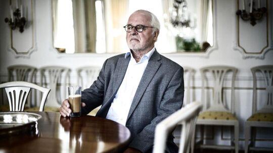 Johan Schlüter i hans hjem på Esplanaden.