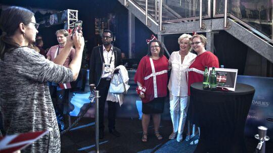 Reportage fra meet and greet med Birthe Kjær til Eurovision 2016 i Stockholm
