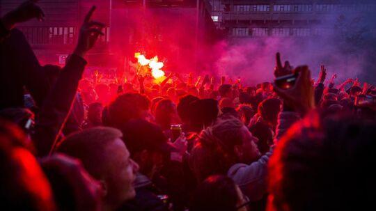 Sidste års Distortion på Nørrebro, hvor en koncert med Suspekt blev stoppet på grund af tændte romerlys.