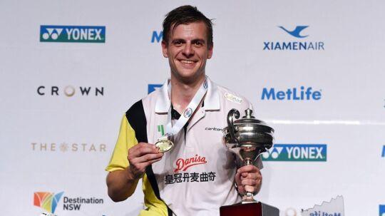 Hans-Kristian Vittinghus hentede søndag sin første sejr i en Super Series-turnering.
