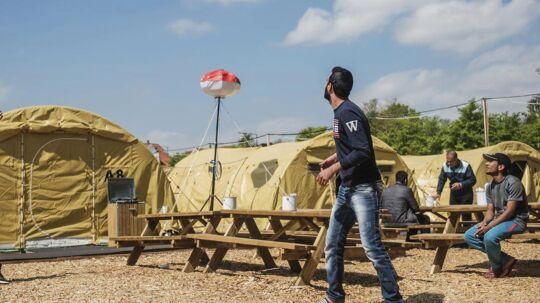 Asylcenteret i Næstved, hvor lejrchef Kent Nielsen er blevet fyret for at lægge en asylansøger i benlås