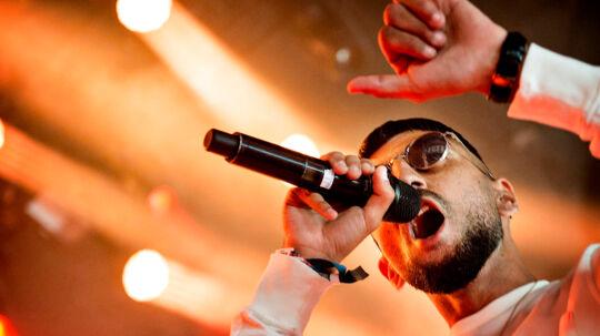 Rapperen Sivas optræder på Arena Scenen fredag d. 1 juli 2016 på Roskilde Festival. (Foto: Nils Meilvang/Scanpix 2016)