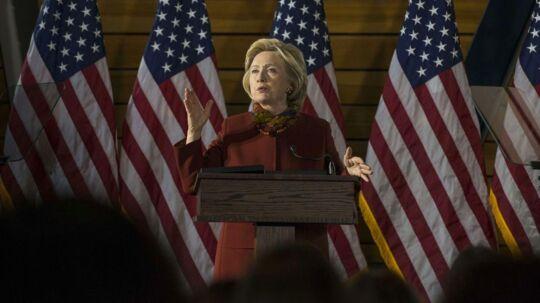 Den demokratiske præsidentkandidat Hillary Clinton. Stephen Maturen/Getty Images/AFP