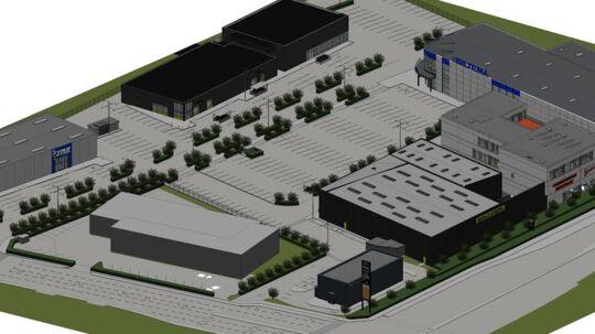 Knap en halv snes forretninger og en fastfood-restaurant får det nye butiksområde i Glostrup.