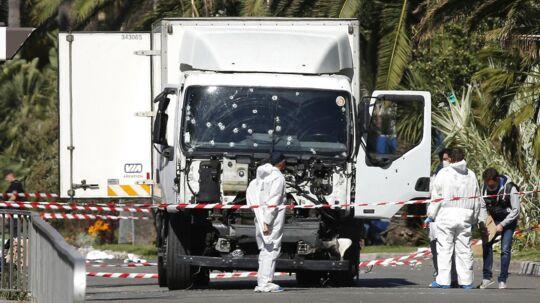 Lastbilen, som blev kørt ind i menneskemængden.