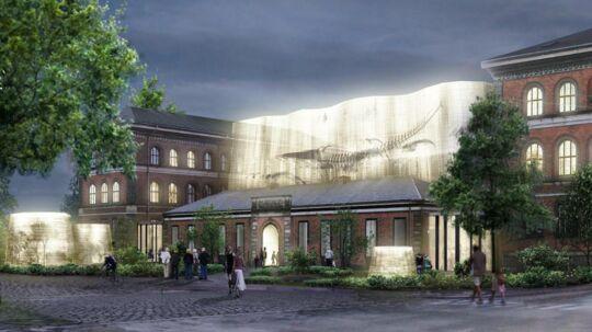 Udbygningen af Statens Naturvidenskabelige Museum er tegnet af Lundgaard og Tranberg Arkitekter og arkitekt Claus Pryds. Sammen med den planlagte renovering forventes byggeriet at stå færdig i 2020. Pris: 950 mio. kr.