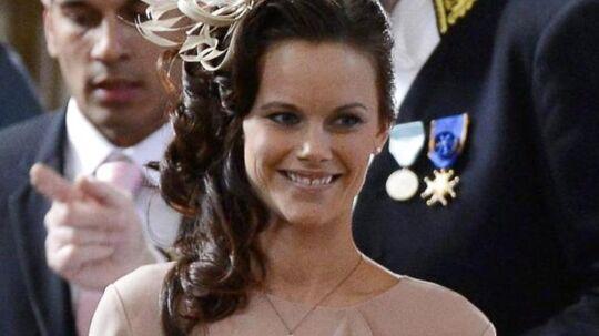 Sofia Hellqvist måtte nøjes med en andens prins, da hun ankom til den svenske barnedåb.