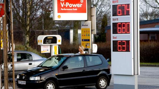 Man kan stadig være heldig og finde gode tilbud på benzin, men ikke som her i 2008, hvor priserne var helt nede under syv kroner.