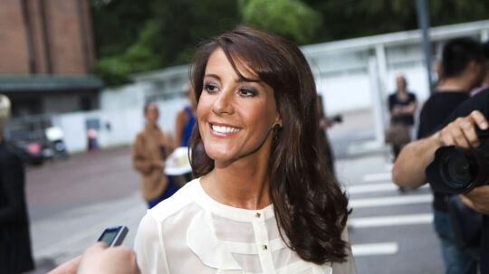 En smilende prinsesse Marie til Malene Birgers modeshow.
