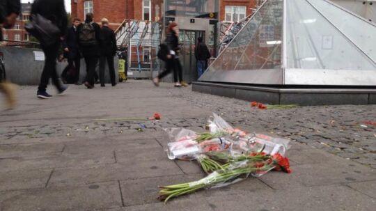 Blomster ved det sted på Amager, hvor Daniel mandag døde.