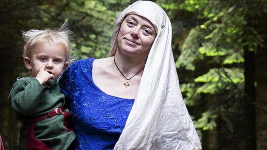 Toby og Marika Kaas med de to mindste børn Valdemar og Dida-Marie.